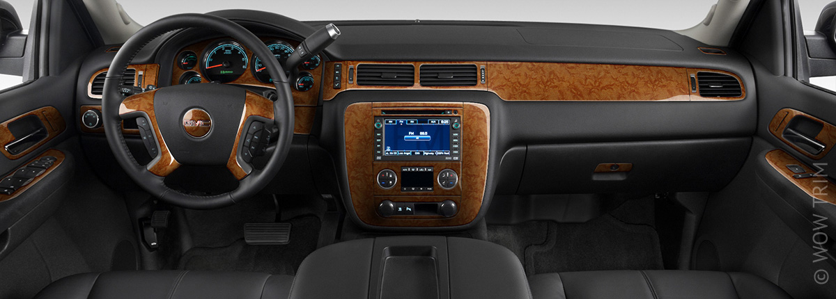 Dash trim kits accessories for gmc sierra wood grain - 2015 gmc sierra interior accessories ...
