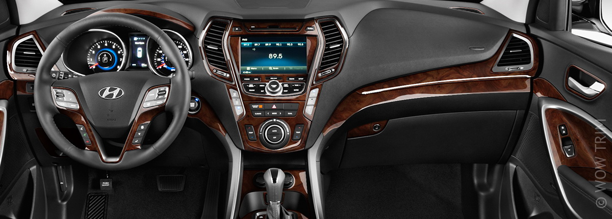 Dash Kits For Hyundai Santa Fe Wood Grain Camo Carbon
