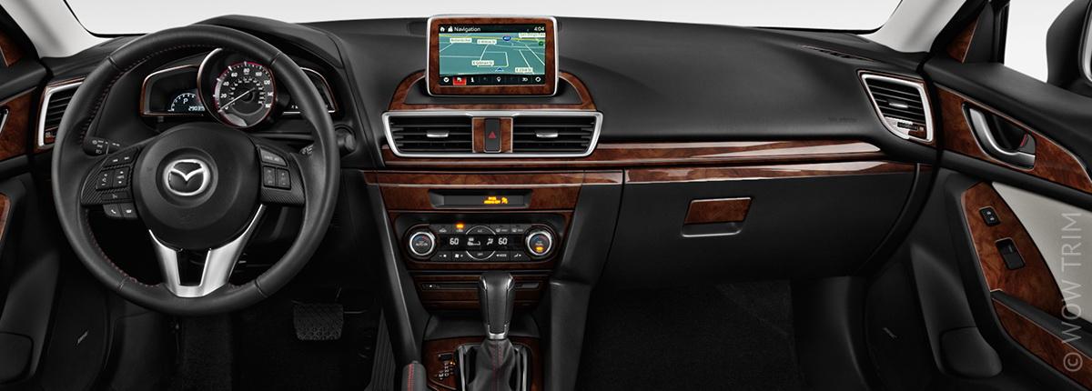 Dash Kits For Mazda 3 Wood Grain Camo Carbon Fiber