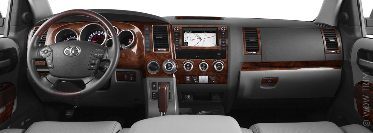 dash kits for toyota sequoia wood grain camo carbon fiber aluminum dash trim kits. Black Bedroom Furniture Sets. Home Design Ideas