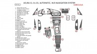 Acura CL 2001, 2002, 2003, Interior Kit, Automatic, Without Navigation, 30 Pcs., OEM Match.