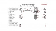 Acura Integra 1994, 1995, 1996, 1997, 1998, 1999, 2000, 2001, 4 Door, Basic Interior Kit, Automatic, 24 Pcs.