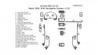Acura MDX 2001, 2002, 2003, Interior Dash Kit, With Navigation System, 6 CD Changer, 25 Pcs., OEM Match.