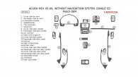 Acura MDX 2005-2006, Interior Dash Kit, Without Navigation System, Single CD, 23 Pcs., OEM Match.