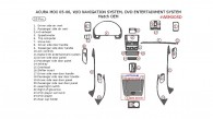 Acura MDX 2005-2006, Interior Kit, Without Navigation System, With DVD Entertainment System, 25 Pcs., OEM Match.
