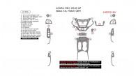 Acura MDX 2016, 2017, Basic Interior Kit, 21 Pcs., Match OEM