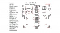Acura RL 2005, 2006, 2007, 2008, 2009, 2010, 2011, 2012, Full Interior Kit, 52 Pcs., Match OEM
