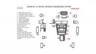 Acura RL 1996, 1997, 1998, Interior Kit, Without Navigation System, 22 Pcs., Match OEM