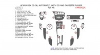 Acura RSX 2002, 2003, 2004, 2005, 2006, Full Interior Kit, Automatic, With CD and Cassette Player, 20 Pcs.