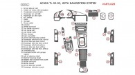 Acura TL 2002-2003, Interior Dash Kit, With Navigation, 32 Pcs., Match OEM