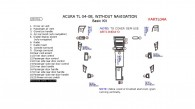 Acura TL 2004, 2005, 2006, 2007, 2008, Without Navigation System, Basic Interior Kit, 20 Pcs.