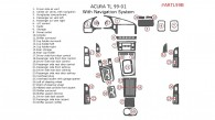 Acura TL 1999, 2000, 2001, Interior Dash Kit, With Navigation, 32 Pcs., Match OEM