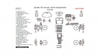 Acura TSX 2004, 2005, 2006, 2007, 2008, With Navigation, Full Interior Kit, 50 Pcs.