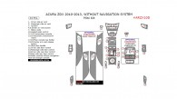 Acura ZDX 2010, 2011, 2012, 2013, Without Navigation System, Mini Interior Kit, 24 Pcs.