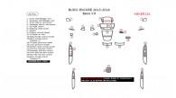 Buick Encore 2013, 2014, 2015, 2016, Basic Interior Kit, 26 Pcs.