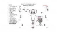 Buick Lacrosse 2010, 2011, 2012, 2013, Basic Interior Kit, 34 Pcs., Match OEM