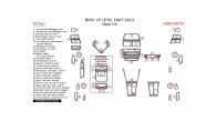 BMW X5 2007, 2008, 2009, 2010, 2011, 2012, 2013, Main Interior Kit, 42 Pcs.