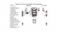 Cadillac CTS 2004-2005, Basic Interior Kit, Automatic, Without Navigation System, 30 Pcs.
