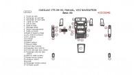 Cadillac CTS 2004-2005, Basic Interior Kit, Manual, Without Navigation System, 30 Pcs.