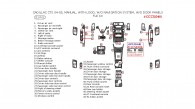 Cadillac CTS 2004-2005, Full Interior Kit, Manual, With Logos, Without Navigation System, Without Door Panels, 51 Pcs.