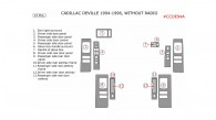 Cadillac Deville 1994, 1995, 1996, Interior Kit, For Models Without Radio, 13 Pcs.