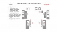 Cadillac Deville 1994, 1995, 1996, Interior Kit, For Models With Radio, 14 Pcs.