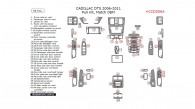 Cadillac DTS 2006, 2007, 2008, 2009, 2010, 2011, Full Interior Kit, 54 Pcs., Match OEM