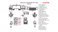 Cadillac Escalade 2002, EXT, Full Interior Kit, 32 Pcs. OEM Match