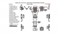 Cadillac STS 2005, 2006, 2007, Interior Kit, Without Navigation System, 43 Pcs., Match OEM