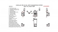 Cadillac SRX 2004, 2005, 2006, Basic Interior Kit, With Navigation System, 29 Pcs., Match OEM