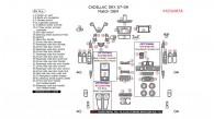 Cadillac SRX 2007, 2008, 2009, Interior Kit, 46 Pcs., Match OEM