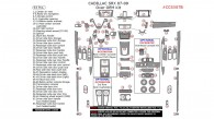 Cadillac SRX 2007, 2008, 2009, Interior Kit, Over OEM Kit, 63 Pcs.