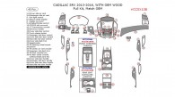 Cadillac SRX 2013, 2014, 2015, 2016, Full Interior Kit (With OEM Wood), 45 Pcs., Match OEM