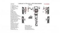 Cadillac CTS/V-CTS 2004-2005, Full Interior Kit, With Door Panels, 47 Pcs.