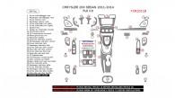 Chrysler 200 2011, 2012, 2013, 2014, Full Interior Kit (Sedan Only), 38 Pcs.