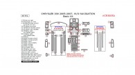 Chrysler 300 2005, 2006, 2007, W/o Navigation, Basic Interior Kit, 40 Pcs.