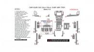 Chrysler 300 2011, 2012, 2013, 2014, Basic Interior Kit (Over OEM Trim), 41 Pcs.