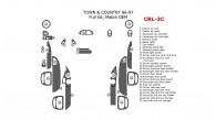 Chrysler Town & Country 1996-1997, Full Interior Kit, 27 Pcs., Match OEM