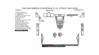 Chrysler Sebring 2007, 2008, 2009, 2010, Convertible, Without OEM Wood, Basic Interior Kit, 19 Pcs.