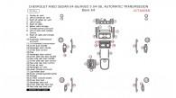 Chevrolet Aveo 2004, 2005, 2006/Aveo 5 2004, 2005, 2006, 2007, 2008, Automatic Transmission, Basic Interior Kit, 35 Pcs.