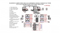 Chevrole Tahoe/Avalanche/Suburban 2000, 2001, 2002, GMC Sierra 1999-2002 / Yukon 2000-2002, With Front Bench Seats, Full Interior Kit, Without Door Panels 27 Pcs.