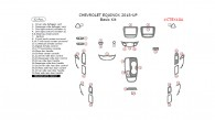 Chevrolet Equinox 2018-up, Basic Interior Kit, 32 Pcs.