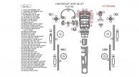 Chevrolet HHR 2006-2007, Full Interior Kit, 56 Pcs.