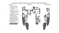 Chevrolet Monte Carlo 2000, 2001, 2002, 2003, 2004, 2005, Full Interior Kit, Without Traction Control, 20 Pcs.