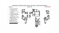 Chevrolet Monte Carlo 2000, 2001, 2002, 2003, 2004, 2005, Basic Interior Kit, Without Traction Control, 16 Pcs.