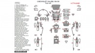 Chevrolet Malibu 2008-2009, Full Interior Kit, 75 Pcs.