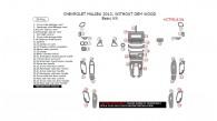 Chevrolet Malibu 2013, Without OEM Wood, Basic Interior Kit, 39 Pcs.