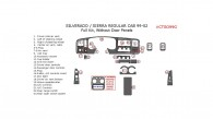 Chevrolet Silverado 1999, 2000, 2001, 2002, GMC Sierra 1999, 2000, 2001, 2002, Full Interior Kit, Without Door Panels, 23 Pcs.