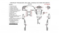 Chevrolet TrailBlazer 2002, 2003, 2004, 2005, Console W/o Rear Fan Switch, Full Interior Kit, 26 Pcs.