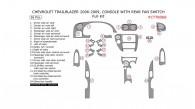 Chevrolet TrailBlazer 2006, 2007, 2008, 2009, Console With Rear Fan Switch, Full Interior Kit, 26 Pcs.